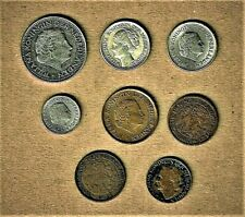 Netherland & Curaco, 8 coin lot 1915, 1917 and up w/ 1944 (WWII) silver coin