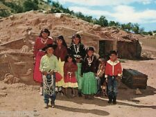 Vintage 1960's Indian Native American Family On Reservation Photo