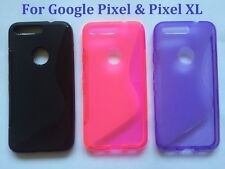 S line Wave Silicone Gel Back Case Cover For Various Google Pixel Phones