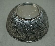 "J. E. CALDWELL Sterling Silver REPOUSSE BOWL 5 1/4"" dia. DATED 1883 Monogrammed"