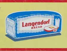 "TIN SIGN ""Langendorf Bread"" Food Art Deco Garage Wall Decor"