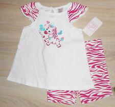 Baby Mädchen 💕 Sommer Set 💕 2tlg 💕 ZEBRA 💕 T-Shirt + Hose 💕 NEU