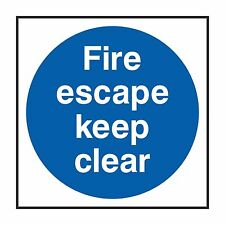 1x Fire Escape Keep Clear Sticker