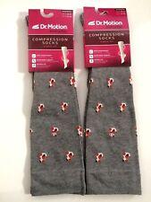 2 Pairs Dr. Motion Mild Compression 8-15mmHg Knee-Hi Women's Socks