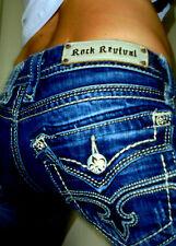 "Buckle Rock Revival Leah 6 pocket style stretch bootcut jeans sz 30x32.5"""