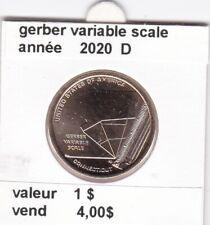 e 4 )pieces de 1 $  gerber variable scala 2020 D