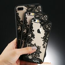 Ultra-thin Clear Silicone Flower Patterned Case Cover For Apple iPhone 6s 7 Plus