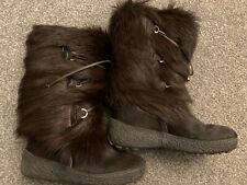 Oscar Vera Gomma Fur Snow Boots Fur Lined Size 41 Uk 7 Super Warm!