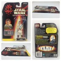 1998 Star Wars Episode 1 Obi-Wan Kenobi Commtech Chip Action Figure New Sealed