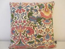 Liberty Morris Lodden Linen Pink & Vintage Coral Velvet Fabric Cushion Cover