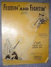 1947 FEUDIN' AND FIGHTIN' Vintage Sheet Music by Burton Lane, Al Dubin