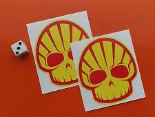 Shell Oil Teschio Stile Adesivi 80mm x 70mm 7-10 anno in Vinile Coppia di due adesivi