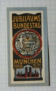 Bundestag Gov Jubilee Fair Munich Germany Exposition Poster Stamp Ads