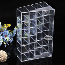 Clear Acrylic Makeup Cosmetic Organizer Drawers 24 Lipstick Holder Display Case