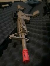 New listing M4 Airsoft Spring Rifle High Cap. Mag ADJ Hop up system  Army tan paint