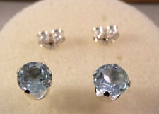 Handmade Topaz Stud Sterling Silver Fine Earrings