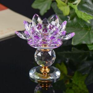 Crystal Lotus Candlestick Tea Light Holder Buddhist Candlestick Decor