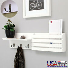 Wall Mounted Shelves Letter Book Holder Key Rack Organizer for Entryway Kitchen