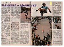 1977 DOCUMENT (ref PEL 4953) SPORT  : PLANCHES A ROULETTES SKATE BOARD  2p