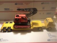 "TONKA Pressed Steel Late 70s Flat bed/LowBoy + CRANE USA MADE 1977  22"" + Long !"