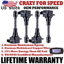 4Pack Ignition Coils For 02-13 Nissan Altima Sentra X-Trail 2.5L L4 UF350 QR25DE