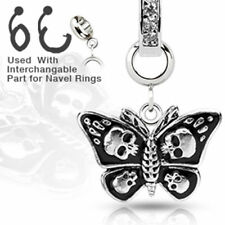 Charm Add-On Schmetterling Totenkopf Anhänger Bauchnabelpiercing Dermal Anchor