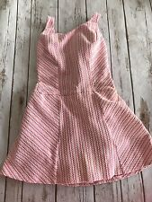 Rose Marie Reid Vintage Bathing Suit 1960's One Piece Skirt Pink Cream Size 10
