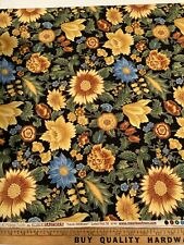 New Fabric : Tuscan Wildflower By Peggy Toole For Robert Kaufman, 2 Yard Piece