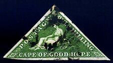 Cape of Good Hope. 1858. 1sh. Yellow Green. SC# 6, SG 8. VF Used