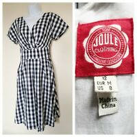 Joules Black & White Check Dress Size 12, Joule, Cotton, Fully Lined, Gorgeous