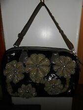 NICOLE LEE XL 3d Zipper Flower Overnight Travel Diaper Bag Boho Bling  X