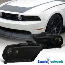 2010-2014 Ford Mustang Diamond Headlight Head Lamps Smoke