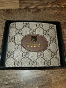 Authentic Gucci Neo-Vintage GG Supreme Beige Wallet