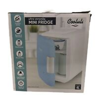 Cooluli Mini Fridge Electric Cooler and Warmer 4 Liter / 6 Can: AC/DC Portable