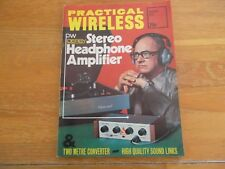PRACTICAL WIRELESS AUG 1974 STEREO HEADPHONE AMPLIFIER TWO METRE CONVERTER