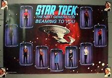 1987 Star Trek Next Generation Poster w Crew- Unused- Free S&H (Svpo-113)