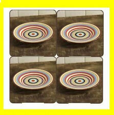 New TWO AND A HALF MEN Charlie Sheen SALAD PLATE SET OF 4