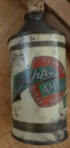 """NICE 1940? Gipps Amberlin Beer Cone Top Can Peoria, IL """"Just Say Give Me Gipps"""""""