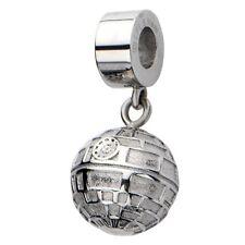 Oficial Acero Inoxidable Star Wars Death Star Colgante Charm De Pulsera