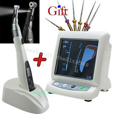 【US】LED Dental White LED Wireless EndoMotor 16:1 Contra Angle 2Clip+Apex Locator