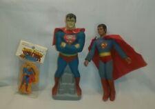 ☆ Vintage Lot 1970's Mego SUPERMAN Action Figure Pencil Sharpener & Avon F/SHIP