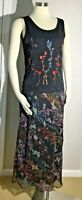 Set if 4 Carole Little Black Dress with Flower print Shells, Skirt, Shirt S & 6