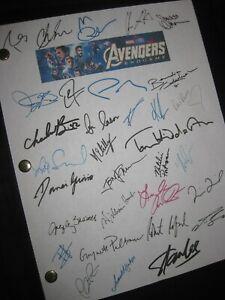 Avengers Endgame Signed Film Script X32 Chris Evans Hemsworth Downey Jr reprint
