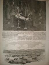Prince De Schinas lying in state at Spa & Steeplechase Crimea 1856 prints ref AT