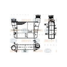 HELLA 8ML 376 899-121 Ladeluftkühler BEHR HELLA SERVICE  links für Audi A4