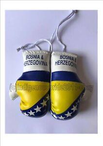 Bosnia & Herzegovina Flag mini boxing glove 4 your car mirror-Bosnia Herzegovina