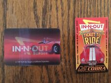 IN-N-OUT BURGER  COBRA Give-away game pieces  & COBRA HOLOGRAM  from 1997