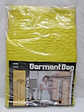 Vintage Universal Garment Dress Bag Hanging Yellow Quilted Front Zipper New Usa