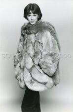 ANNY DUPEREY 80s FASHION FUR SPRUNG FRERES  VINTAGE PHOTO ORIGINAL