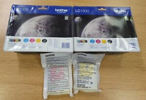 Brother LC1000 Ink Cartridges - Unopened